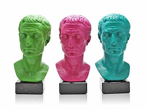 Forum Traiani Caesar Büsten Pop Art Magenta, grün, türkis