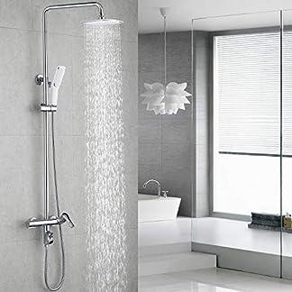 Homelody 3 Funciones Columna de ducha Altura Ajustable sistema de ducha conjunto de ducha para bañera Aireador Desmontable