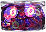Theobroma Casino Pokerchips aus Milchschokolade, lose in Dose, 1er Pack (1 x 1 kg)