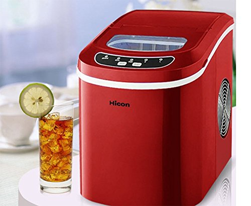 SHIMEINA Ice Maker Home Uses 10 Minutes To Make Cubes Large Capacity 2.4L Tank Semi-Automatic No Requires Pipes Including Scooper And Removable Basket