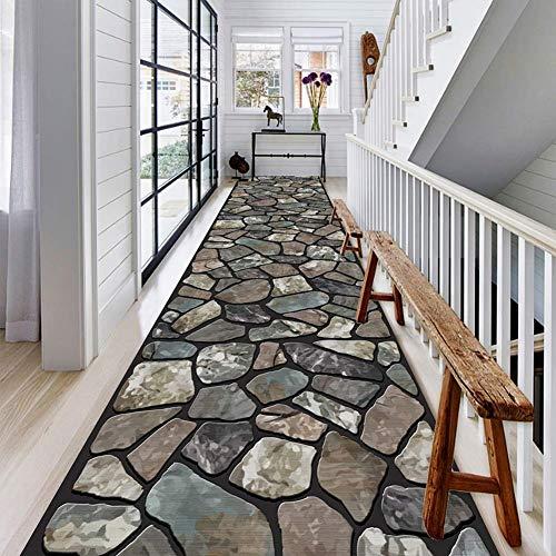 Long Carpet, Rutschfester Teppich Mit Gummirückseite, Hallway Wedding Aisle Runner Rug (Color : A, Size : 1x1m) ()