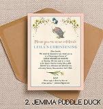 10personalisierte Jemima Puddle Ente für Taufe/Namenstag Einladungen mit Umschlägen
