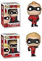 Funkopop Incredibles 2: Mr Incredible + Dash – Stylized Disney Pixar Vinyl 2 Figure Bundle Set New