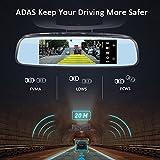 Auto Kamera Spiegel, Android GPS DVR 19,9cm 4G Rückspiegel fahren Recorder 1080P Back Up ADAS Navigation fahren recorder-built-in WiFi, schneller Surfen