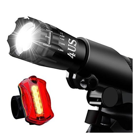 REHKITTZ Luci Bici,Luce per Bici, Luci a LED per Bicicletta Super-Luminosa
