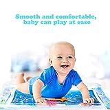 Hemicala Kinder aufblasbare Wassermatte in Fun Water Matte Activity Play Center Leakproof PVC Water Filled Playmat für Neugeborene für Kleinkinder Kleinkinder -