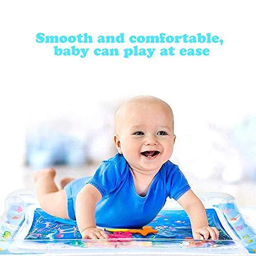 Hemicala Kinder aufblasbare Wassermatte in Fun Water Matte Activity Play Center Leakproof PVC Water Filled Playmat für Neugeborene für Kleinkinder Kleinkinder