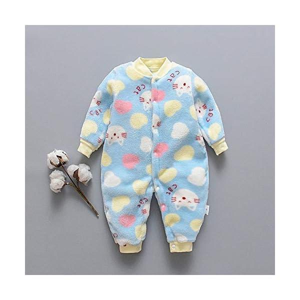 Pijama Bebe 0-18 Meses Mameluco cálido recién Nacido bebé Dibujos Animados Fleece Caliente Mono Suave Pijama de una… 2