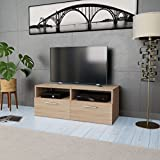 Festnight- Mobile Porta TV in Truciolato 95x35x36 cm Rovere
