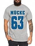 Mücke 63 Buddy Movie Star Film Herren T-Shirt, Farbe:Dunkelgrau Meliert;Größe:XL