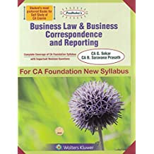 Padhuka's Business Law & Business Correspondence and reporting for CA Foundation New Syllabus 2019