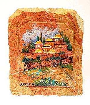 Old Jerusalem City in Marmor Stein Malerei mit Emaille Beschichtung