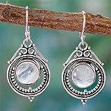 Weiy - Pendientes Colgantes de Plata con Piedras Preciosas de Luna, Estilo...