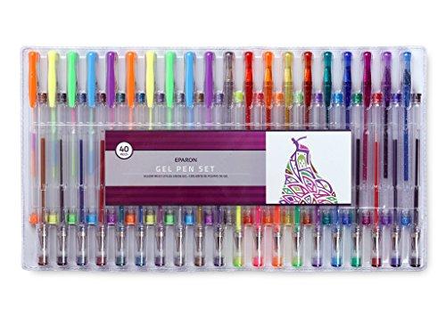 Eparon® Gelschreiber | Gelstifte 40 Gel-Stifte Set