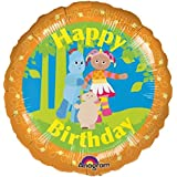 """In the Night Garden - Flat 18"""" In the Night Garden Foil Balloon - matching party products for In the Night Garden in stock too.."""