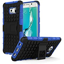 Galaxy S6 Edge+ Plus Funda - MoKo Heavy Duty Rugged Dual Layer Armor with Kickstand Protective Cover para Samsung Galaxy S6 Edge + 2015 Smartphone, Azul (Will Not Fit Galaxy S6 Edge)