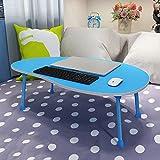 LJHA Klapptisch/Kleiner Schreibtisch/Laptop-Tisch/Kinder Schreibtisch/Single Esstisch / 80 * 50 * 28CM Tabelle (Farbe : Blau)