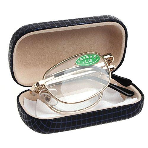 Eliky Mini Faltbarer Metallrahmen Lesebrille Brillenetui