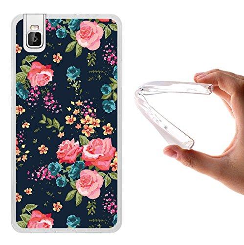 Huawei Honor 7i Hülle, WoowCase Handyhülle Silikon für [ Huawei Honor 7i ] Vintage Blumen Rosen Handytasche Handy Cover Case Schutzhülle Flexible TPU - Transparent