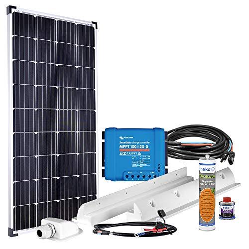 Offgridtec® mPremium+ XL 150W 12V MPPT Caravan Solaranlage mit Victron SmartSolar 100/20