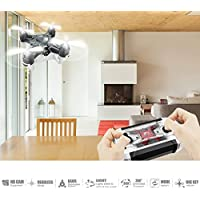 ECLEAR RC Quadcopter Mini Drone, 4 Channel 2.4GHz 6-Axis Gyro Helicopter with 720P HD Camera LED Lights Headless Mode Toys For Adult Kids Aerial Photography Racing - Compare prices on radiocontrollers.eu
