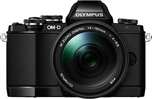 Olympus OM-D E-M10 Systemkamera (16 Megapixel, Live MOS Sensor, True Pic VII Prozessor, Fast-AF System, 3-Achsen VCM Bildstabilisator, Sucher, Full-HD, HDR) inkl. 14-150 mm II Objektiv schwarz Olympus Image Systems