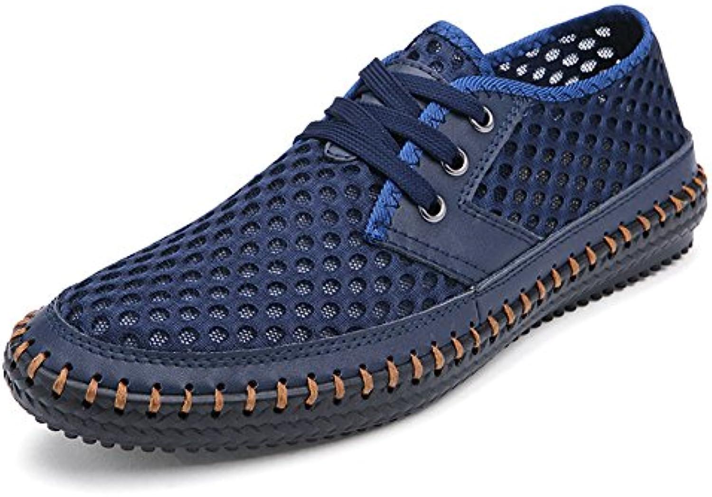 NXY Herren Casual Flache Lace up Wanderschuhe Sommer Atmungsaktives Mesh Quick Dry Water Aqua Schuhe