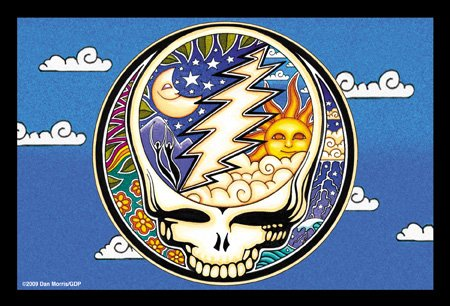 2 x Dan Morris / GDP Grateful Dead - Night / Day Steal Your Face Cartolina Postale Postcards - 6'' x 4'' Inches