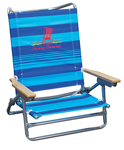 Tommy Bahama 5Position Classic die Strand Stuhl, blau gestreift (Stuhl Rucksack Rio)