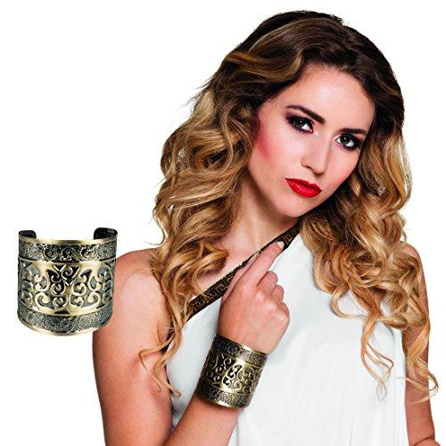 Römerin Armband - gold - Griechin Armspange Ägypterin Armreifen Antike Griechische Göttin Armschmuck Cleopatra Kostüm Zubehör Ägyptischer Schmuck Armreif