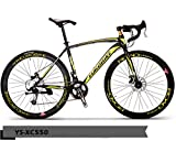 PEDALOOP Alloy Road Bike - (BlackYellow)