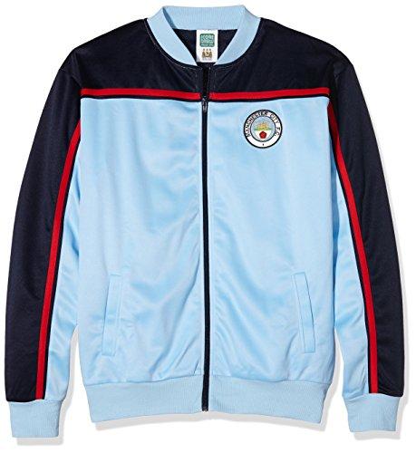 Manchester City F.C. Trainingsjacke 1982 XXL Blau - blau England Track Jacket