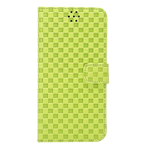 Phone case & Hülle Für IPhone 6 / 6S, Prägung Grid Textur Horizontale Flip PU Leder Telefon Fall mit Halter & Card Slots ( Color : Grey ) Green