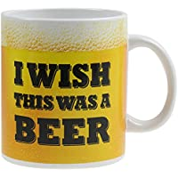 OOTB Porzellan-Becher, I Wish This was a Beer, Gelb, 15 x 12 x 14.2 cm