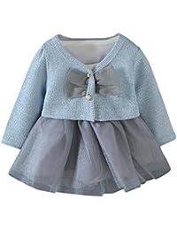Ropa Bebe K-youth® Camiseta Tops de bebé niñas + Tutú Princesa Vestidos Conjunto de trajes 0-18 meses