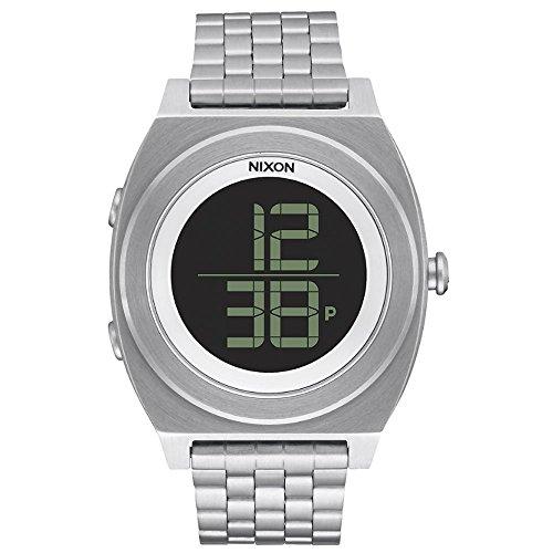 Nixon Unisex-Armbanduhr Digital Quarz Edelstahl A948000 (Nixon-digitaluhr-schwarz)