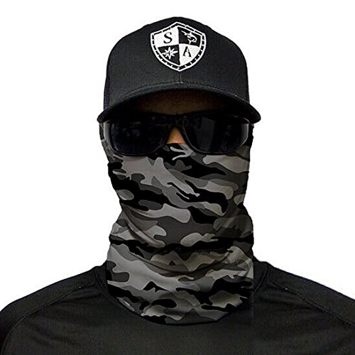 SA Company Herren Ourdoor Face Shield Grey Military Camo