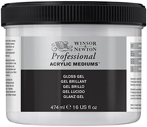 Winsor & Newton Medium - Gel acrilico lucido, 474 ml