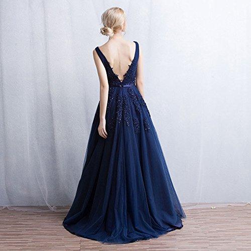 Vimans - Robe - Trapèze - Femme Bleu Marine