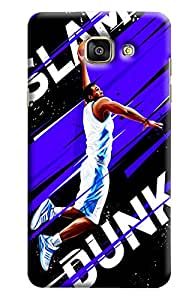 Blue Throat Slam Dunk Basket Baprinted Designer Back Cover/Case For Samsung Galaxy A7 2016