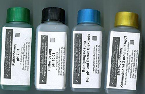 Schneiderbanger Kalibrier- und Pflegeset für pH-Elektroden 4 x 100 ml mit pH 7,01 und 10,01 -
