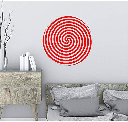 guijiumai Hypnose Spirale Runde Wandtattoo Visuelle Illusion Kunst Vinyl Aufkleber Wohnkultur Wohnzimmer Schlafzimmer Dekoration S 1 85x86 cm