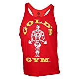 Golds Gym Classic Stringer Muscle Joe Premium Tank Top Pumping Iron (M, red)