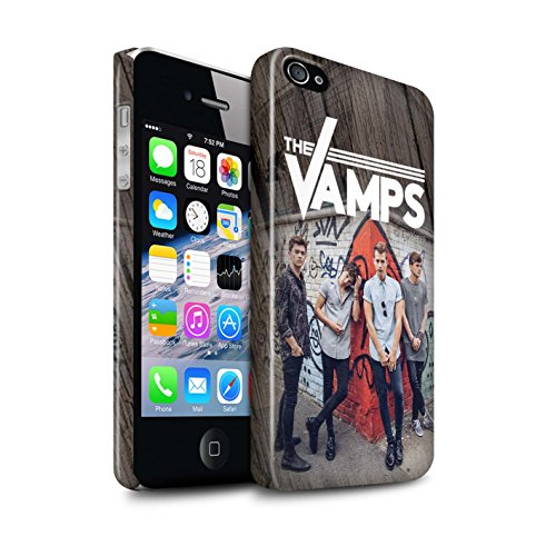 Offiziell The Vamps Hülle / Glanz Snap-On Case für Apple iPhone 4/4S / Pack 6pcs Muster / The Vamps Fotoshoot Kollektion Holz-Effekt