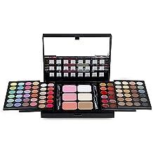 Gracelaza 78 Colores Paleta de Sombra de Ojos de Cosmético - Incluye Corrector, Blush, Polvos Compactos y Brillo de Labios - Opción Ideal Para el Maquillaje