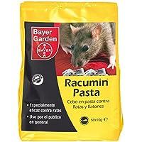 Bayer Garden Racumin Pasta - Raticida en pasta de alta eficiencia contra ratas en interiores y exteriores. Incluye 50 unidades de 10g
