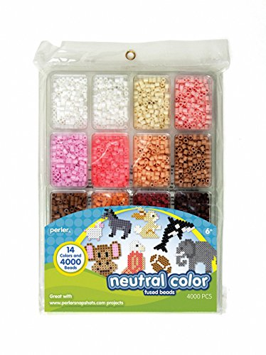 Perler Fused Bead Tray 4,000/Pkg-Neutral Color -