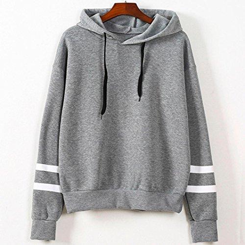 Femmes Sweatshirts,Jimma® Pull Sweatshirt Sweat à capuche pull Tops blouse manches longues Gris