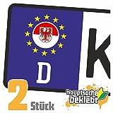 Brandenburg Kennzeichen Aufkleber Sticker Nummernschild Land Country Nation