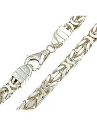 Schwere Königskette massiv 925 Silber 8x8mm, Länge 80cm, direkt ab italienischer Fabrik